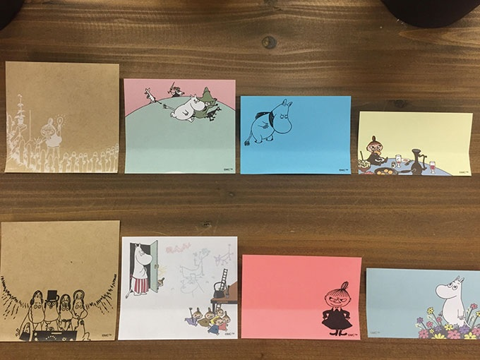 MOOMIN 4 Assorted Design Sticky Notes School and Office Stationery