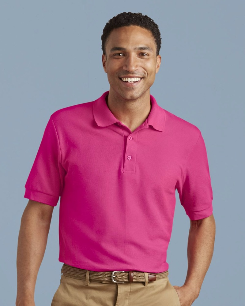 Gildan 6.6 oz 100% Double Pique Cotton Polo Shirt - 100% combed ring spun cotton double pique knit and comes with your logo