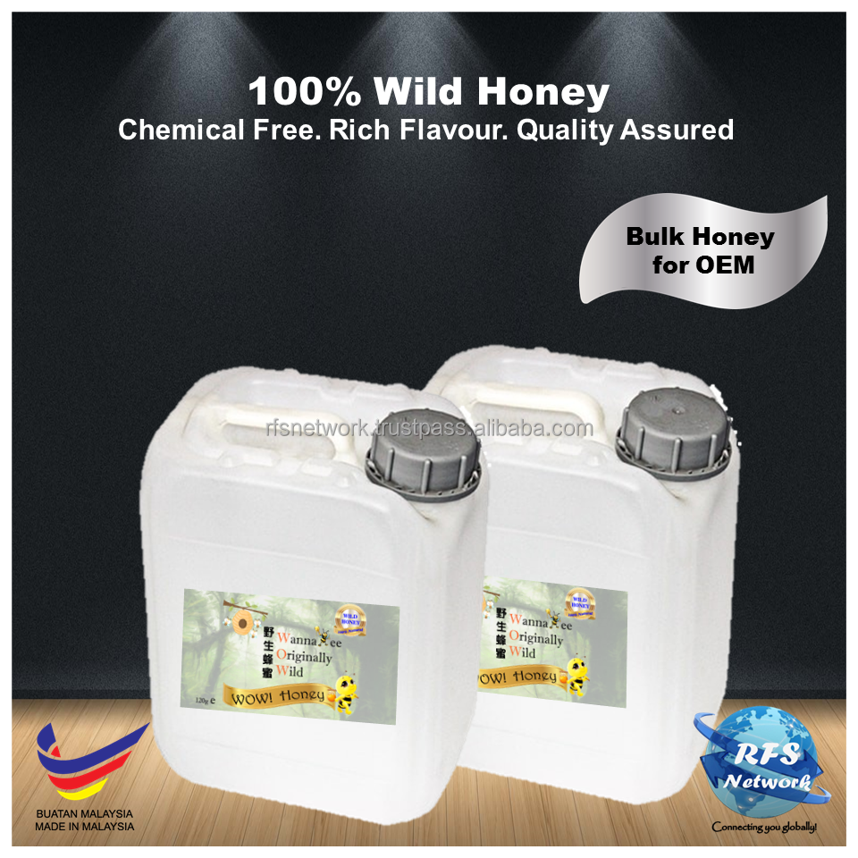 Natural & High Quality Flower Pure Honey in Malaysia for OEM