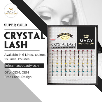 Super Gold Crystal Lash Mini Tray 6 Lines