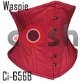 "10"" Inches Red Cotton Waspie Underbust Steelbones Waist Trainer Corsets bodice Supplier"