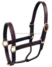 Triple Stitch Turnout Halters Leather