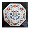 Dining White Lapis Stone Inlay Table