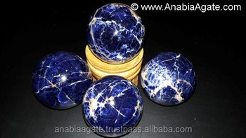 Blue Sodalite Gemstone Sphere Nice Crystal Ball : Gemstone Sphere