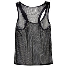 2016 New Sexy Fashion Fishnet Mesh Tank Tops For Men Clothes Male Guy Black Sleeveless Net Top Suits Mens Clothing