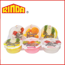 Mixed Fruits Flavoured Jelly Pudding With Nata De Coco (Dairy)