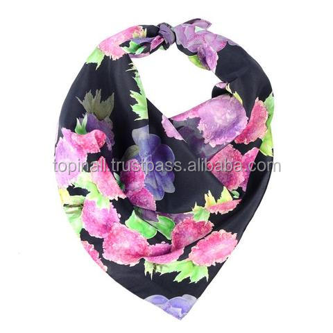 Hot Sale Fashionable 100% Silk Printing Scarf