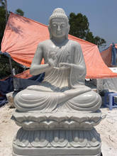 white marble statue of life size buddha statue
