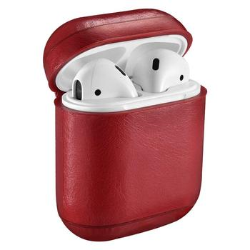 Leather Skin Protective Case For Apple AirPod Wireless Earphone Charging Case