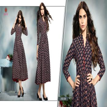 Prisha -1Cotton Print Full Stitched Ready To Wear PartyWear Gown StyleLong Kurti Kurta For Indian Women And Girls