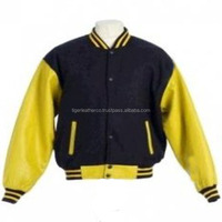 Custom Men's Cotton Hoodie Baseball Varsity Jacket in different color's