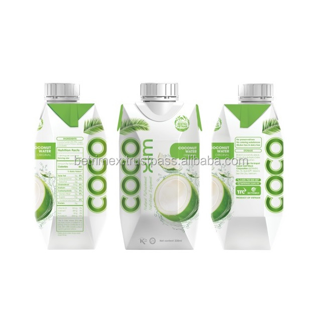 High quality coconut water with lime juice flavor - 330ml/1,000ml - A product of Vietnam
