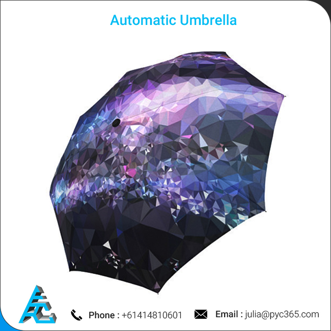 Automatic Colorful Fordable Polyester Umbrella