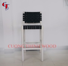 rubber wood furniture, Milo Bar stool with band woven seat and backrest