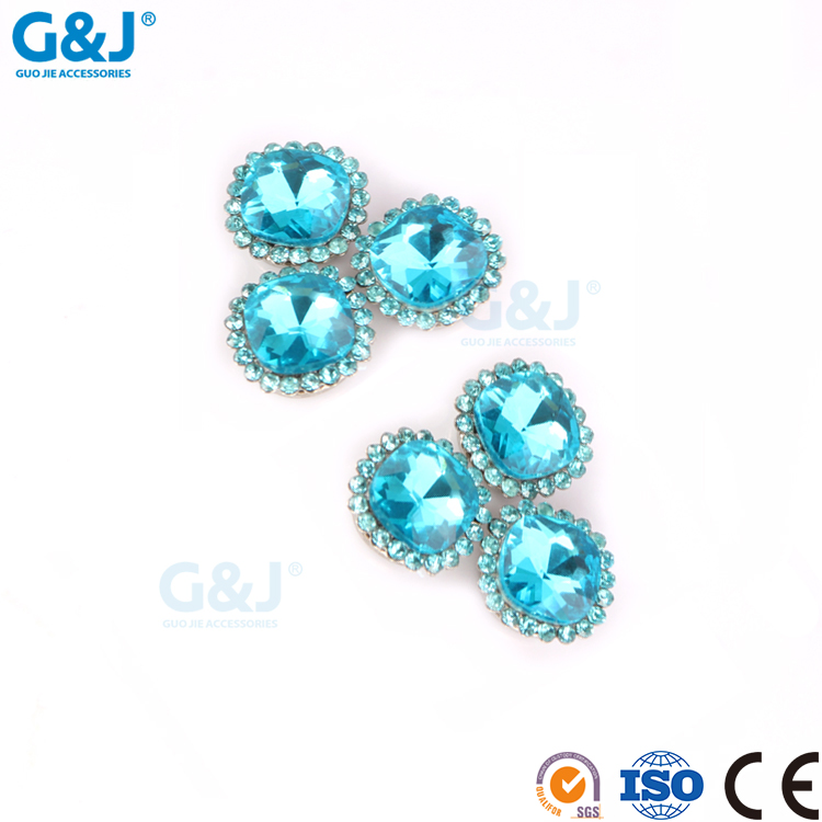 Guojie brand factory hot selling round shapeg arments accessories rhinestone crystal