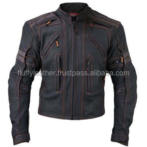 Motorcycle jacket with armour--MJ-179