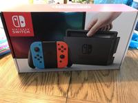 FREE SHIPPING Nintendo Switch with Neon Blue and Neon Red Joy-Con WITH 30 GAMES AND 2 CONTROLLER