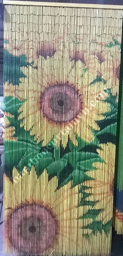 Fashionable design home decorative bamboo curtains for doors sunflowers