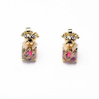 AP38059 New arrival elegant cute mini animal dog stud earrings