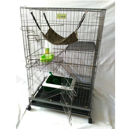 3 Level Big Cat Cage Portable Cat Cage