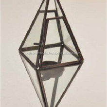 star hanging lamp / mercury glass terrarium lamps