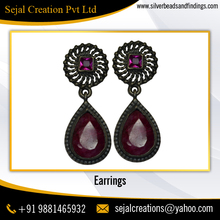 Indian Women Wedding Clip On Statement Earrings 2017