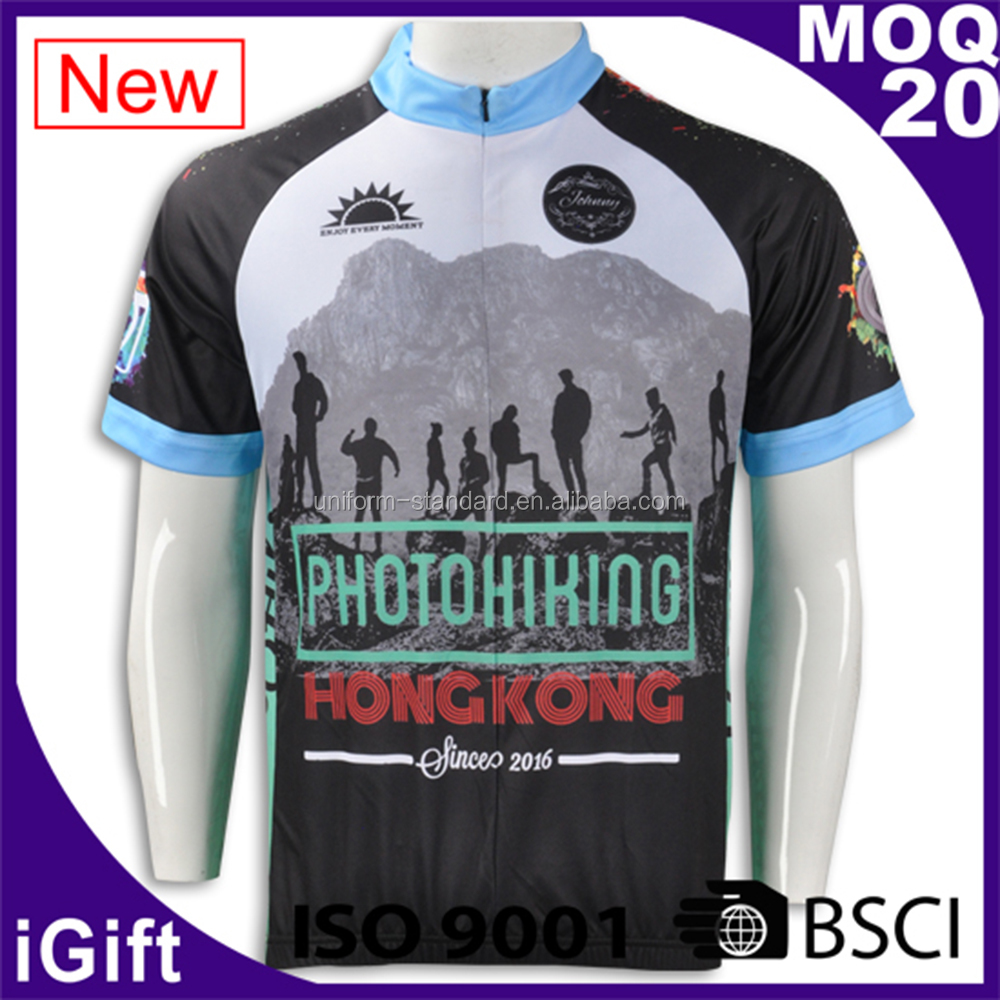 Manufacturer Sublimation Full Color Print Dry Fit Custom Jersey Cycling Wear
