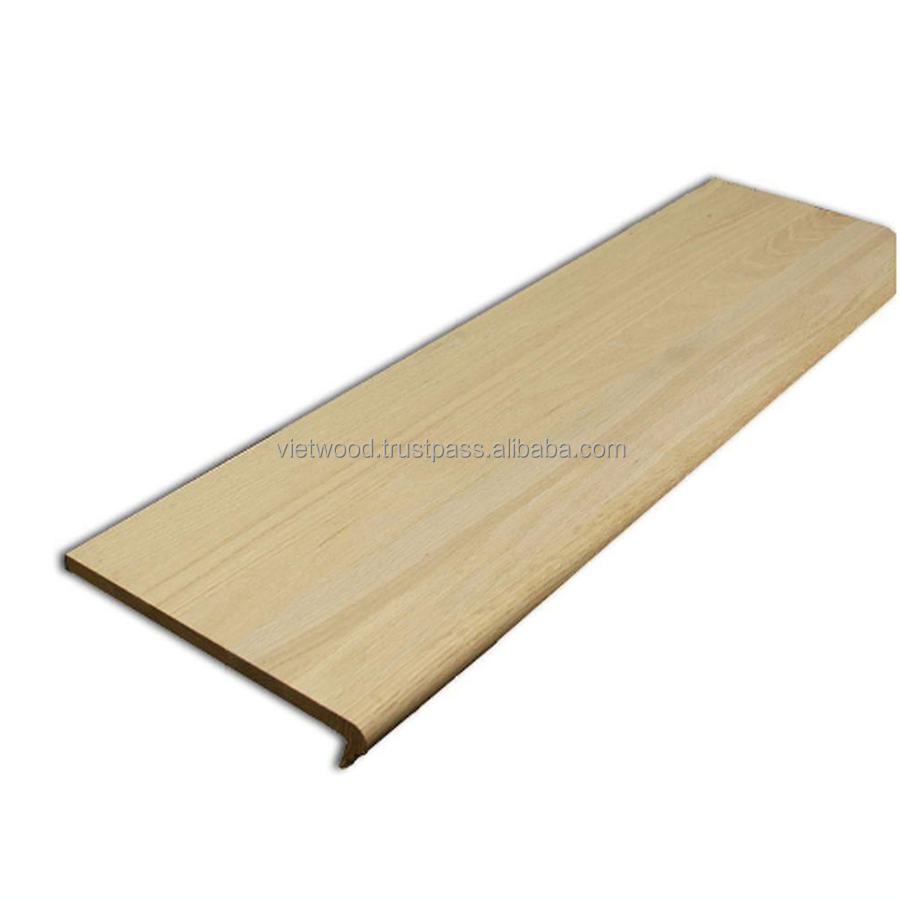 Solid Wood Stair Tread /Stair Parts/Stair Riser/Handrails