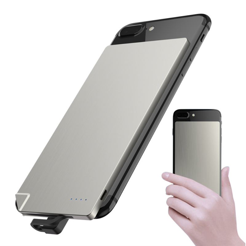 New Ultra-thin Card Mobile Power Bank for <strong>Apple</strong> and Android with Stainless Steel Body Factory Direct Supply