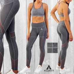 Wholesale fitness clothing Women Compression Legging Ladies Yoga Pants Workout Sports Bra