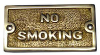No Smoking Warning Sign Plates