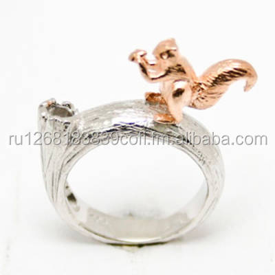 Silver ring with a squirrel 005766-01-01
