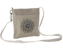 wholesale Indian new design Private label Cotton jute Buddha Inspired bag