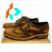 Best Quality Handmade Men's Dress Brogues Wingtip Oxford Shoes Genuine Leather MY-90713