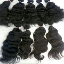 Hot selling products wholesale ebony human hair