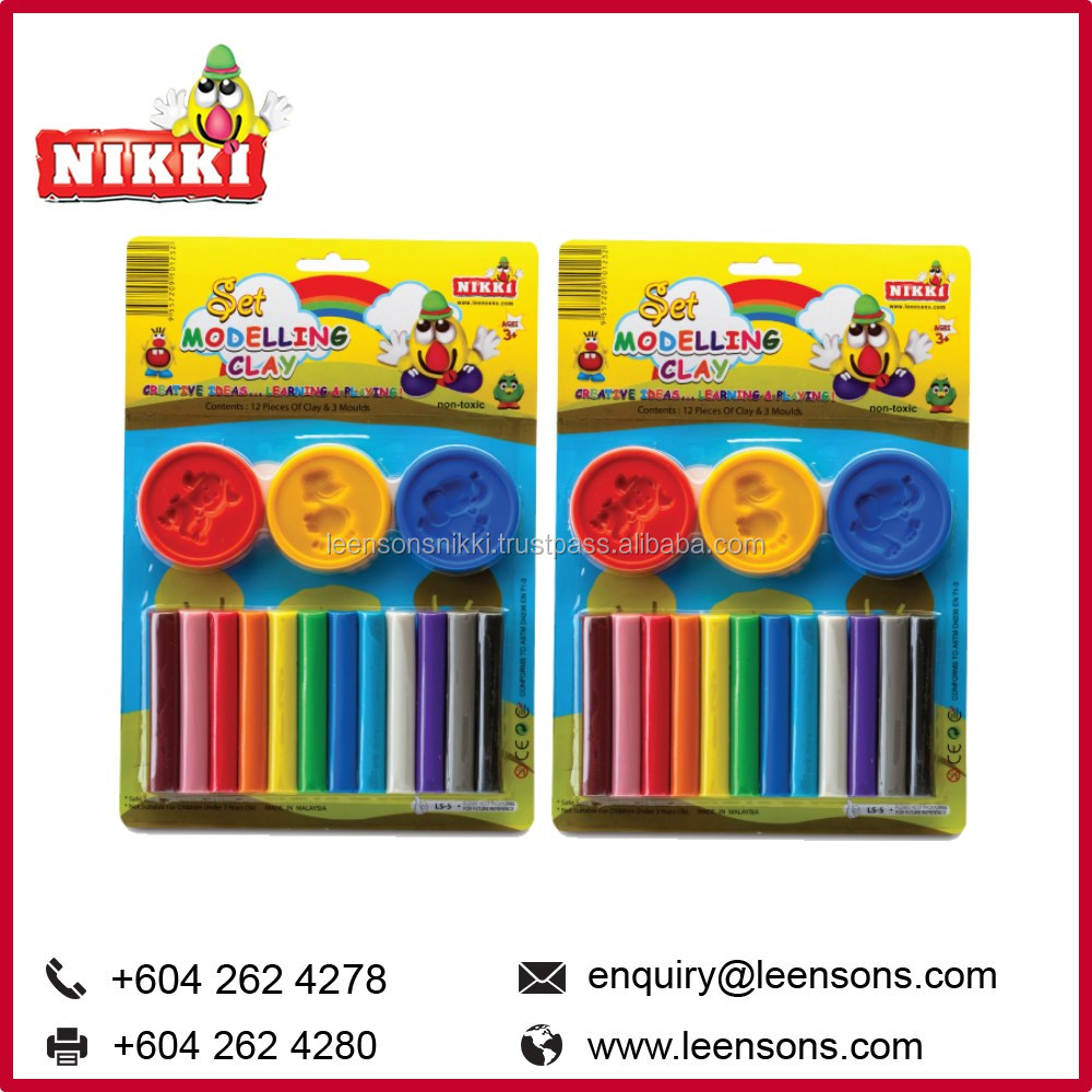 12 Modeling Clay Sticks Set Chidren Educational Toys Wholesale Malaysia (LS 5)