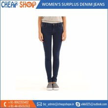 Straight Fit Women's Surplus Denim Jeans for Wholesale