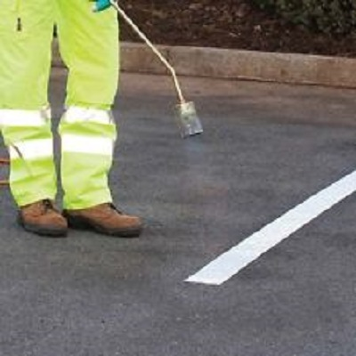 Road line Thermoplastic Marking White 5 m (100 mm)