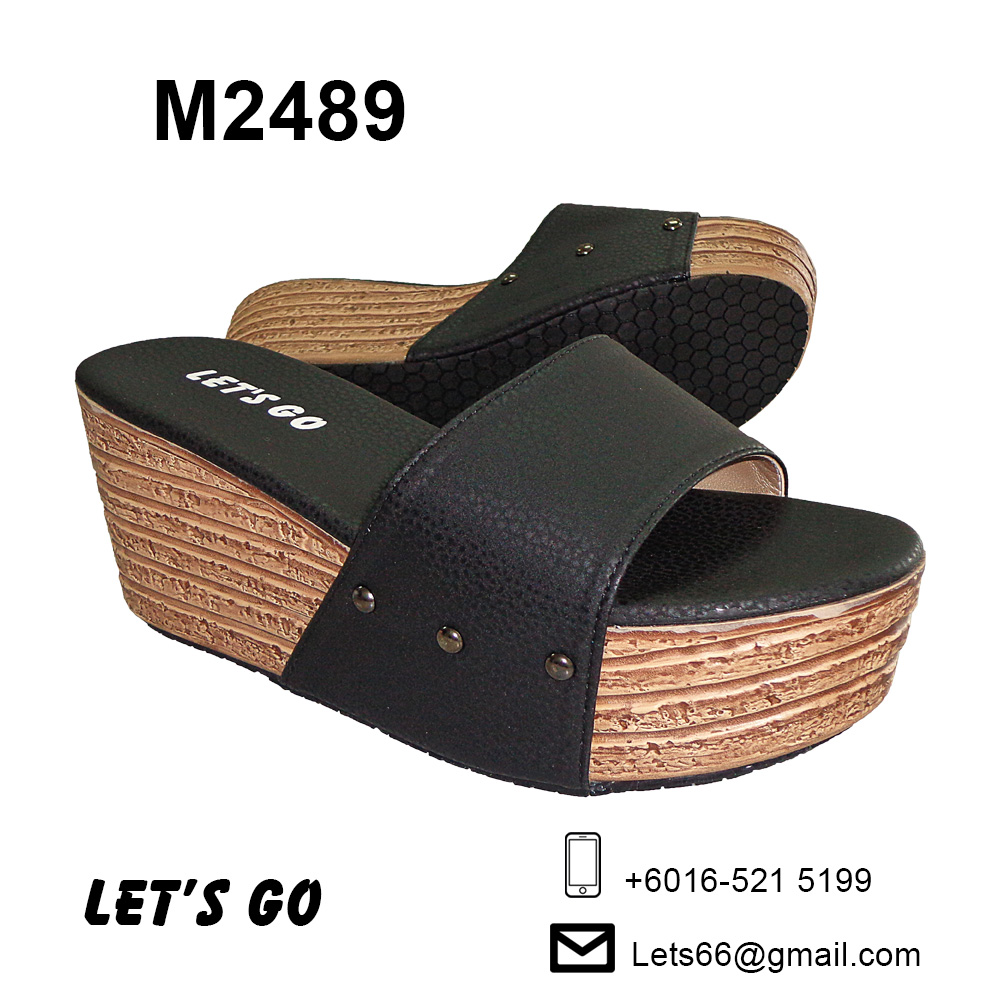 LET'S GO Women's Wedges M2489 (Black)