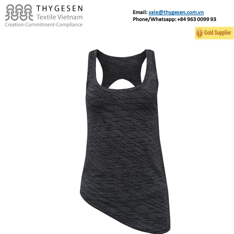 Best Vietnam Supplier 61% burn out, 33% polyester, 6% spandex tank top