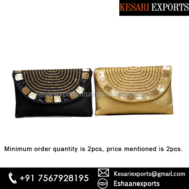 Ethnic Style Moti Work Clutches For Women