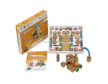 Wooden Building Blocks Construction and Farmer Toys EN71, CE