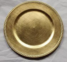 Gold Acrylic Decorative Charger <strong>Plates</strong>