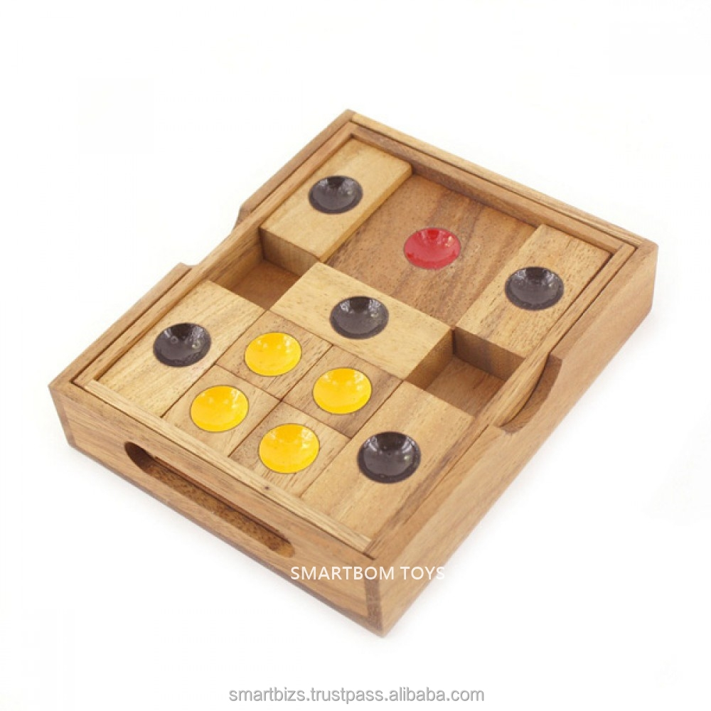 Escaped Puzzle or Khun Pan Wooden Board Game Educational Toy