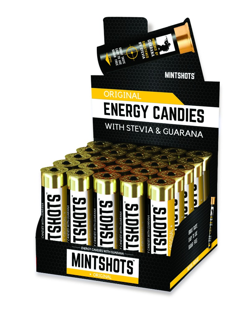 MINTSHOTS BLACK in Tactical pack with stevia and guarana extract
