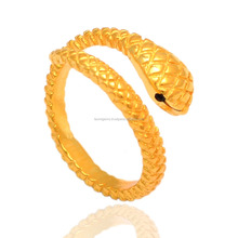 Beautiful Jewelry 18k Gold Plated Wholesale Snake 925 Sterling Silver Rings
