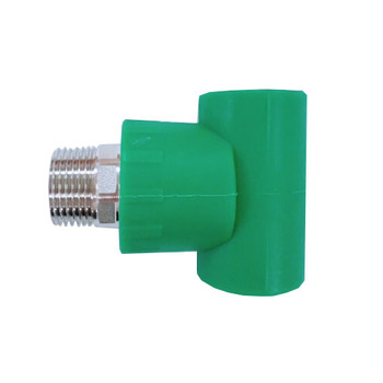 high quality PPR green plastic female threaded fittings tee / fitting inner tube for connecting