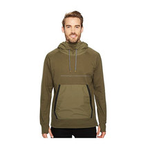 Over size fleece hoodie with pocket/simple stylish over size hoodie with zipper pocket on front