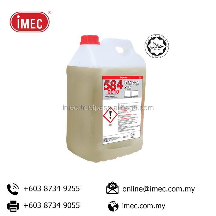 Manufacturing Price Halal IMEC 584 DC 10 Ultra Duty Degreaser 2 x 10L