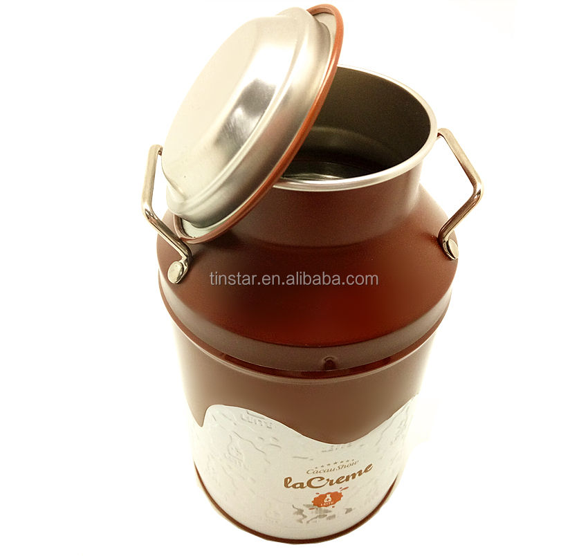 New style round tin box for chocolate